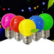 10Pcs/Led Kleurrijke E27 B22 5W Rgb Rood Groen Blauw AC220V 240V Energiebesparende Led Golf bal Gloeilamp Globe Lamp Kerst Lamp