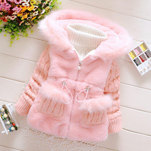 Baby Girls Autumn Winter Warm Thick Cotton Jacket Children Clothes Kids Christmas Outwear Jackets Hooded Coats 2 3 4 5 Years