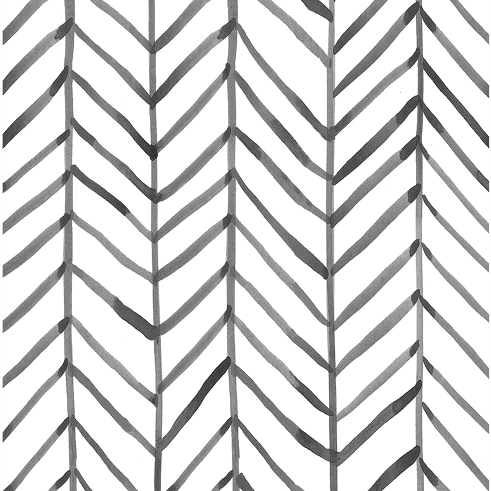 Modern Stripe Peel And Stick Wallpaper Herringbone Black White Vinyl Self Adhesive Contact Paper For Kidroom Bedroom Home Decor 2