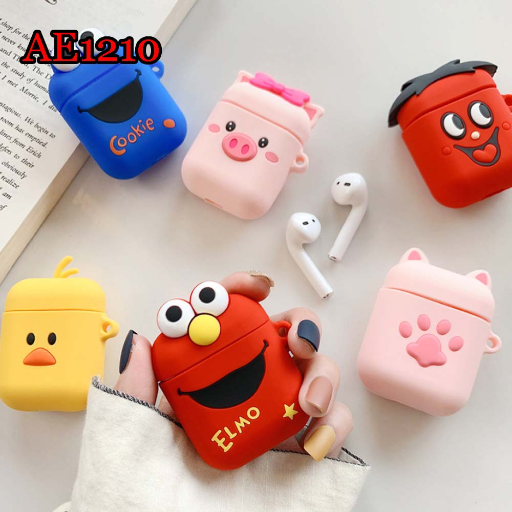 FREE SHIPPING Cute AirPods2 Saving Case Cartoon Silicon Protective Cover Air Pod Earphone Box Air Pods Headphone AE1210