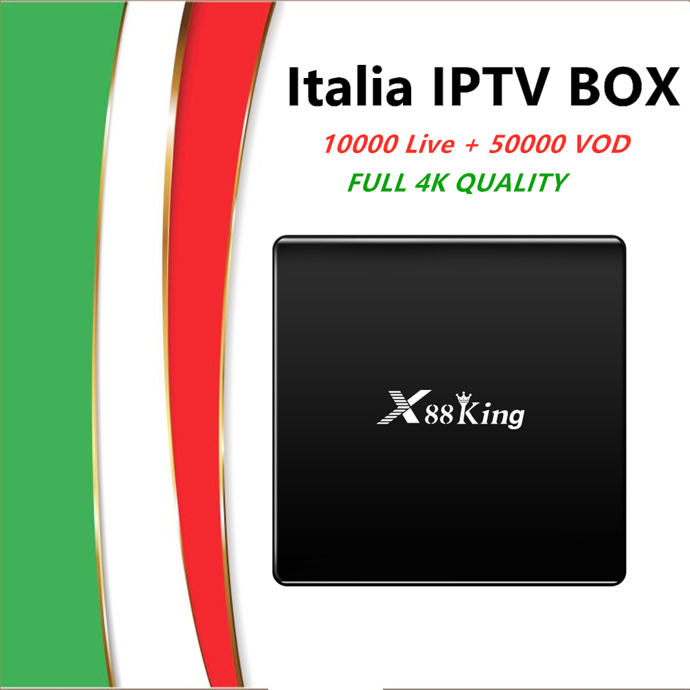 Android 9.0 TV Box X88King 4G+128G Amlogic S922X BT5.0 Dual WiFi With Iptv Italy Garmen Spain USA UK Arabic Iptv Tv  Box