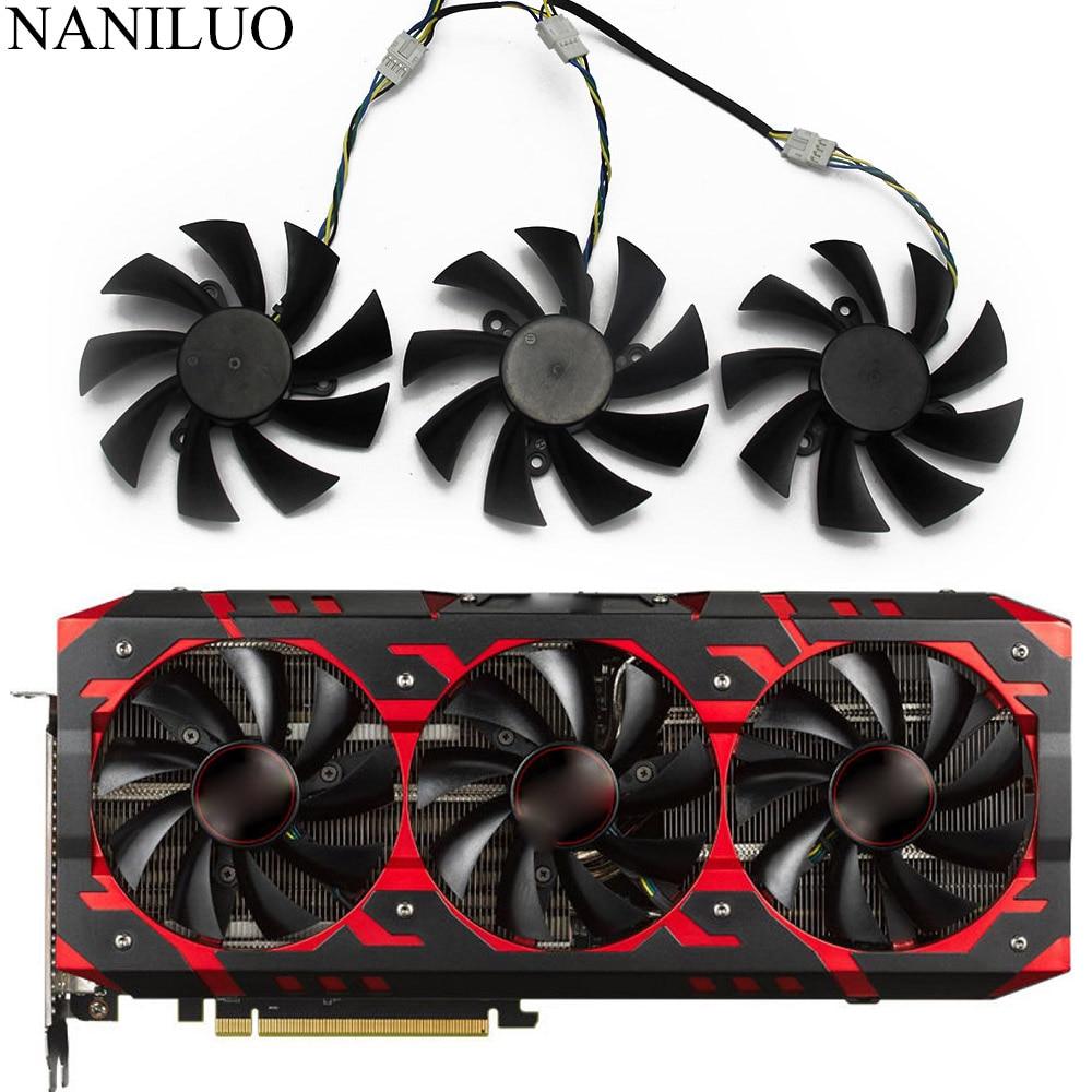 Красный Дьявол RX VEGA56 VEGA64 для DATALAND PowerColor Radeon RX Vega 64 56 красный охлаждающий вентилятор