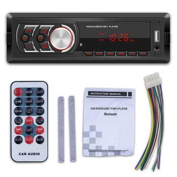 Car Radio MP3 Player Single DIN Detachable Display BT AUX USB Head Unit 1781E image