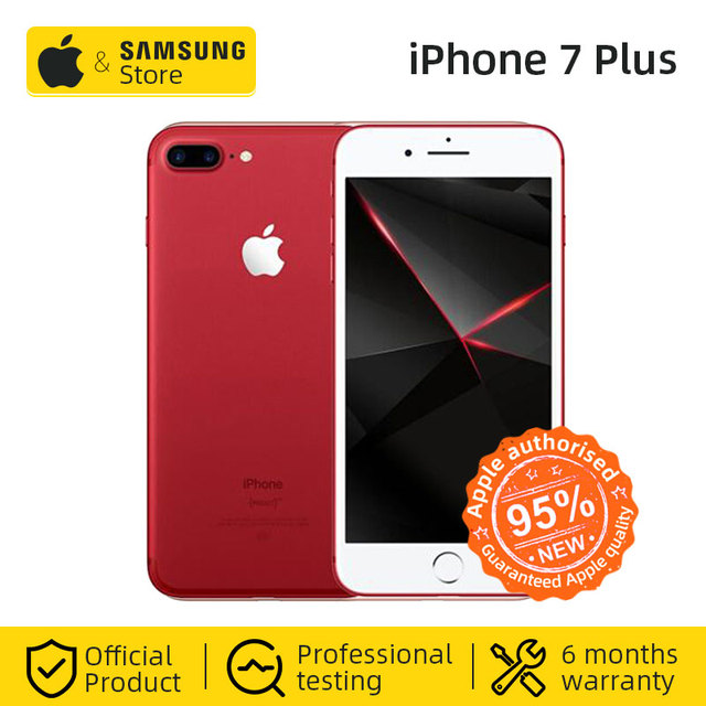 Original Apple iPhone 7 Plus 3GB RAM 32/128GB IOS CellPhone 12.0MP Camera Quad-Core Fingerprint LTE Smartphone(95% new)