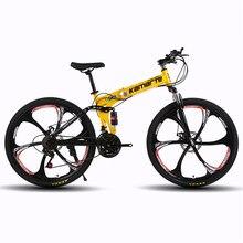 Складной велосипедный велосипед 26-дюймовые стальные 21-скоростные велосипеды двойные дисковые тормоза дорожные велосипеды гоночные двойны...