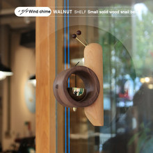 Wind Chime Solid Wood Housewarming Gift Small And Lovely Snail Suction Doorbell Handmade Refrigerator Copper Bell