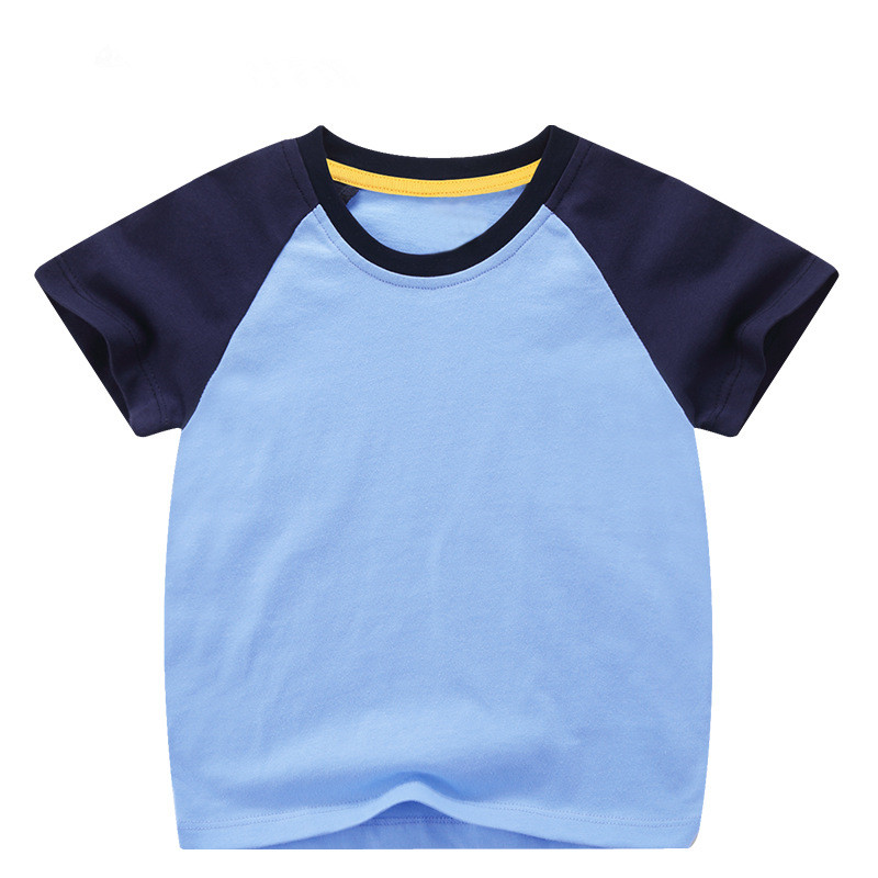 VIDMID boys girls short sleeve t-shirts tees kids cotton clothes tops t-shirts boys candy color tees tops children tees 7042 03 4