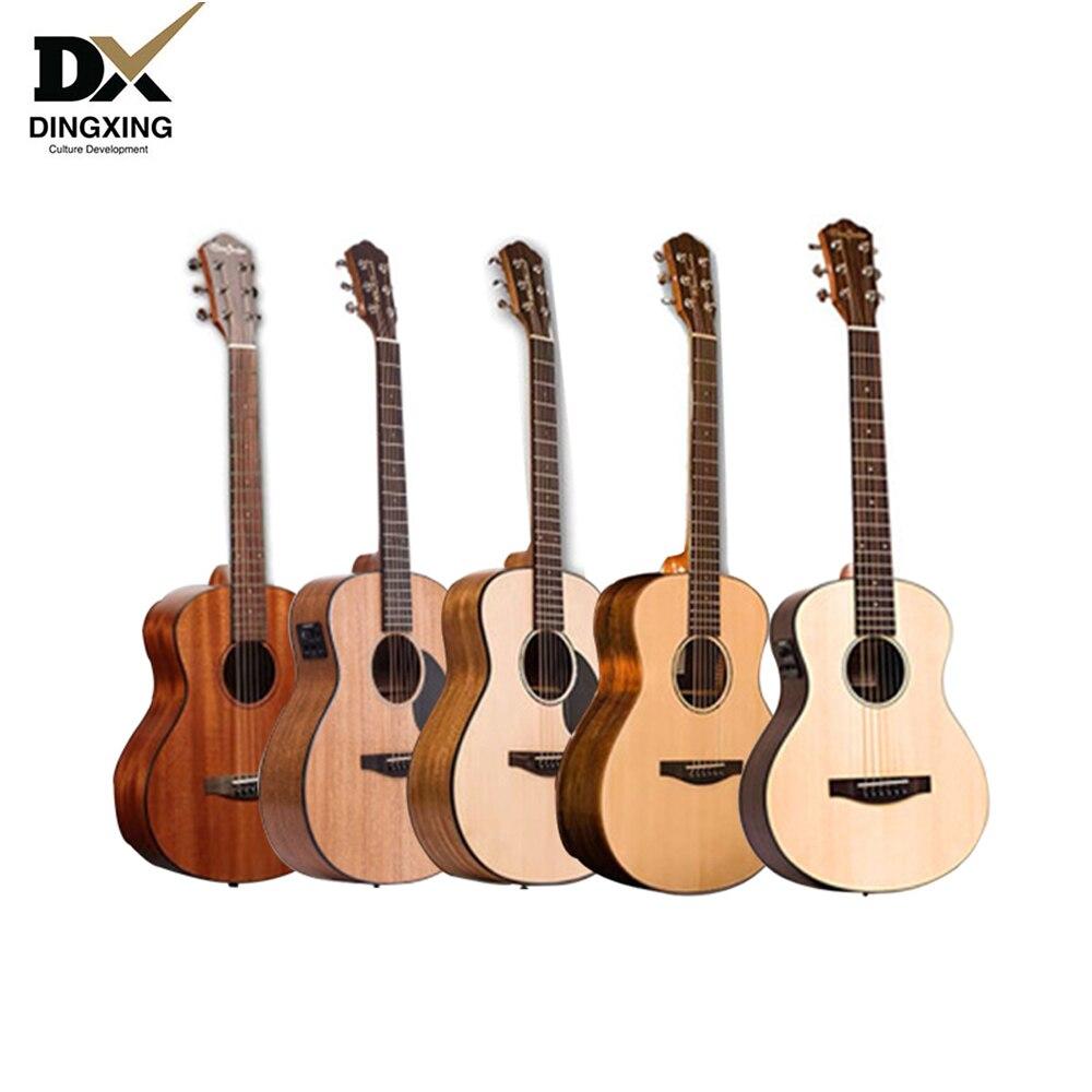 Акустическая гитара 36 дюймов 34 твердой древесины музыкальные Струнные инструменты стальные струны нейлоновые детские дорожные гитары ras 38