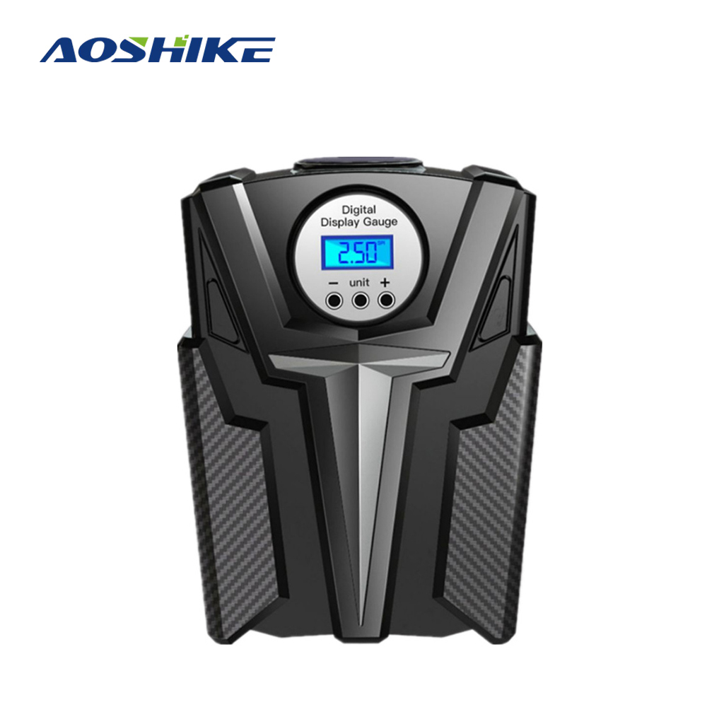 AOSHIKE 12V Car Portable Air Compressor Pump Digital Tire Inflator 150 PSI Auto Air Pump for Car Motorcycle LED Light Tire Pump title=