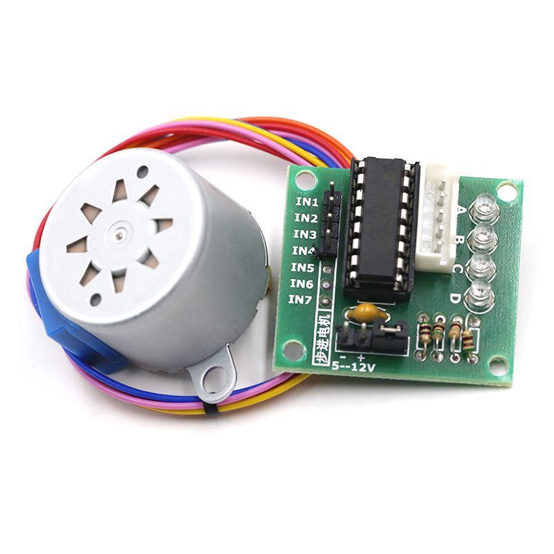 1LOTS 28BYJ-48-5V 4 Phase Stepper Motor+ Driver Board ULN2003 For Arduino Stepper Motor + ULN2003 Driver Board