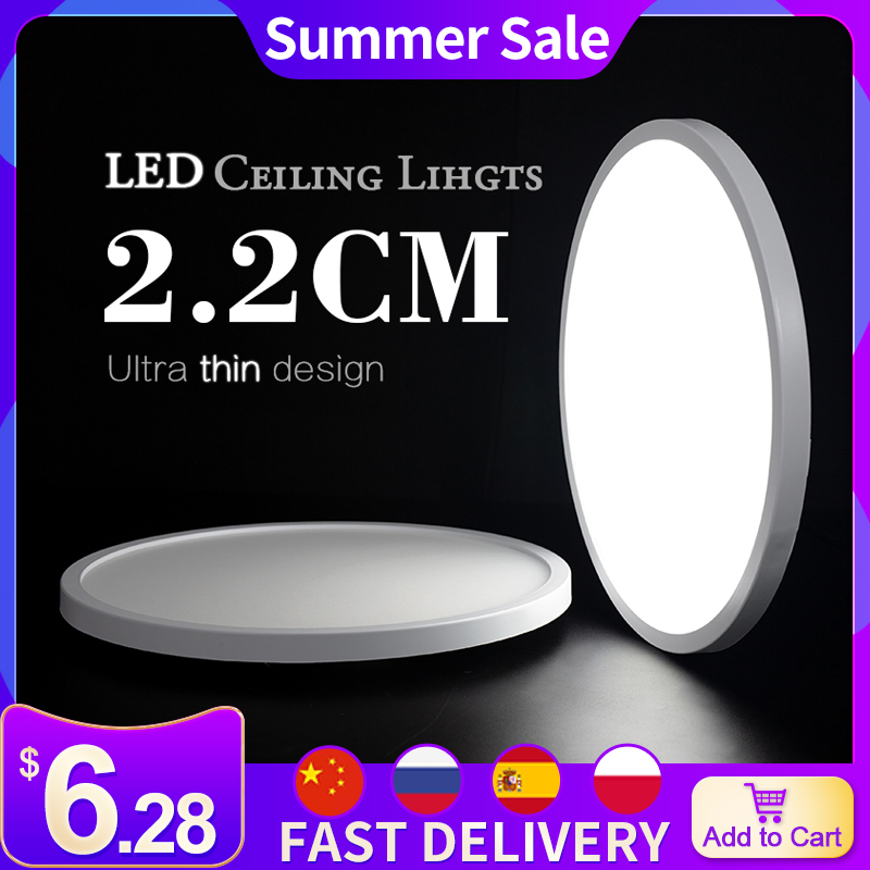 Living Room lights LED Ceiling Lamp Ultra-thin Cold White 9W 13W 18W 24W lighting fixture Ceiling Lights for Bedroom and kitchen