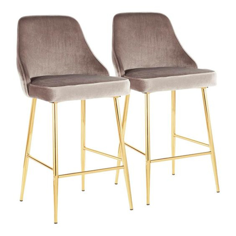 Stainless Steel Bar Chair Simple Modern Front Desk High Chair American