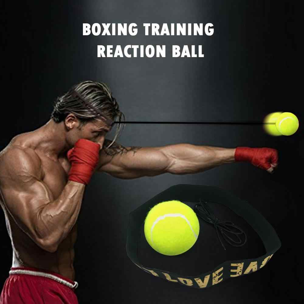 Boxing Punch Exercise Fight Ball With Head Band For Reflex Speed Training Box UK
