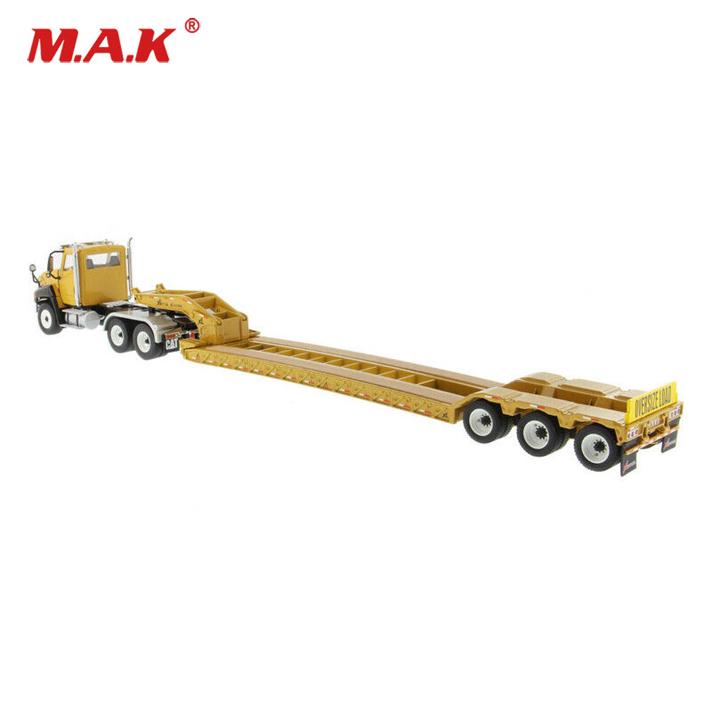 Kid Model Toys For Boys 1/50 Diecast Alloy CT660 Day Cab With XL 120 Low-Profile HDG Lowboy Trailer 85503C Truck Vehicle Model