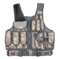 Airsoft Body Armor Military Airsoft Protective Vest Molle Vest with m9 Magazine Holster Outdoor Hunting Ammo Tactical Pouches