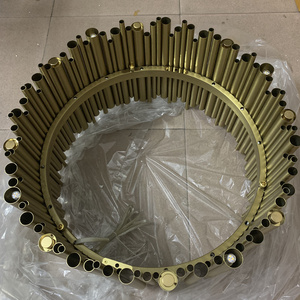 Image 5 - Włochy projekt złoty Delightfull Brubeck żyrandol aluminium rura ze stopu zawieszenia oprawy moda lampa projektorowa