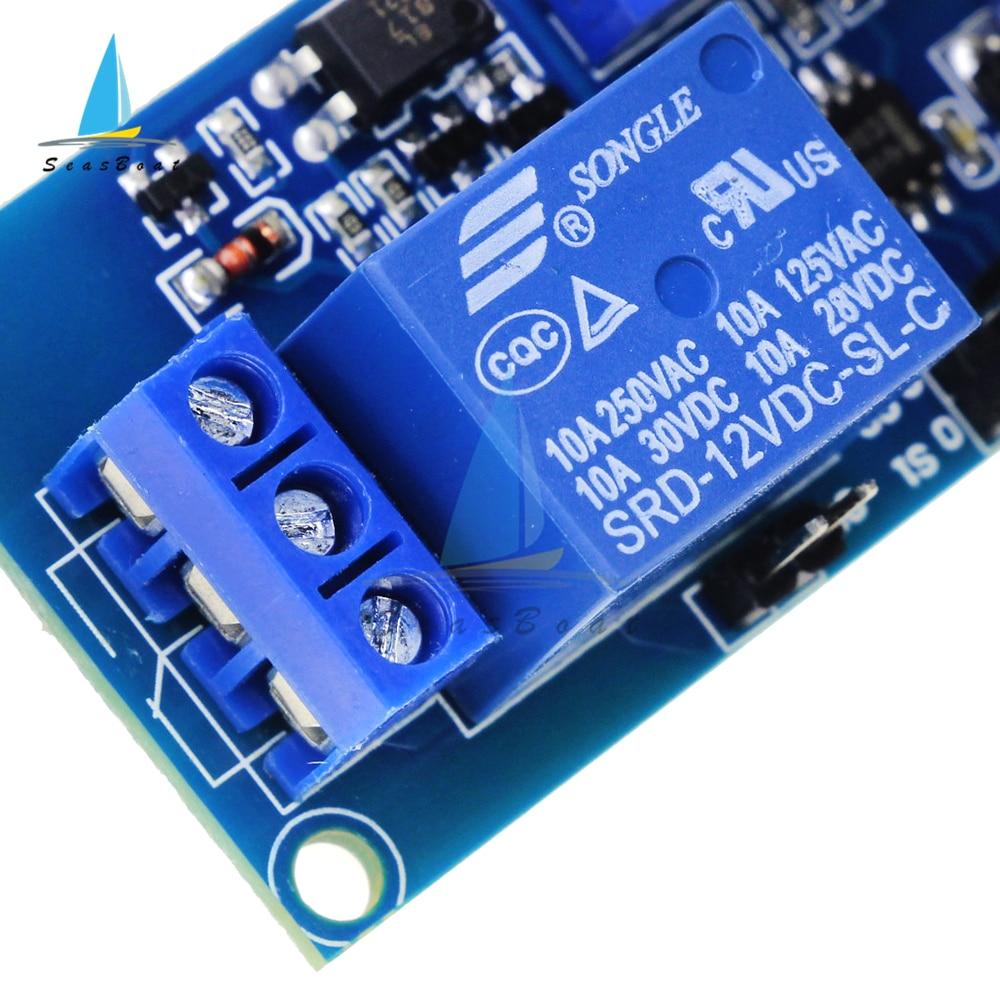DC 12V Время задержки релейный модуль задержки пуска включается/задержка выключения релейный коммутационный модуль с таймером вольт синхрон...