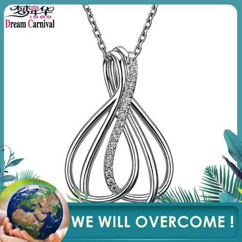 DreamCarnival 1989 Braided CZ Pendant Necklace for Women Rhodium Color Drop Ship Fashion Wholesales Hot Selling Collares WP6426