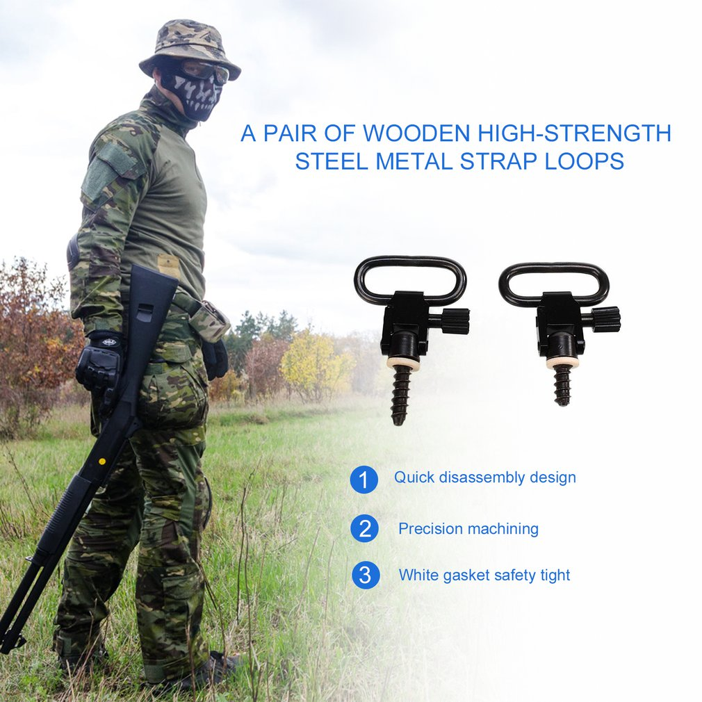 2pcs Quick Detachable Sling Swivel Hunting Accessories Kit for Rifle Shoot Studs