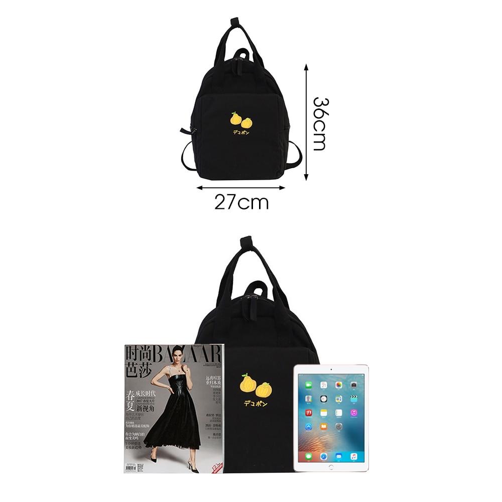 Image 3 - Fashion Avocado Fruit Embroidery Women Backpack Shoulder Bag Waterproof Nylon Bagpack Casual Schoolbag for Teens female backpackBackpacks   -