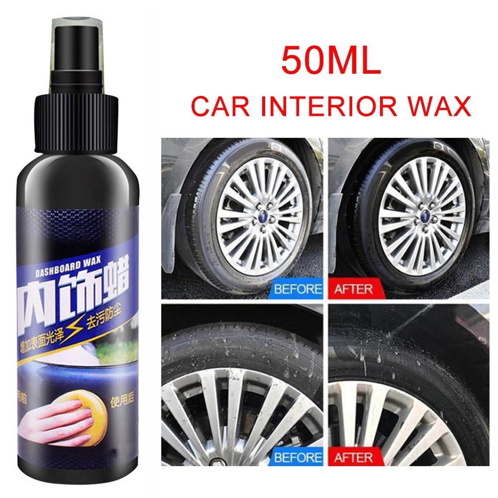 50ml Car Interior  Dirt Removal Seat Polish Wax Dashboard Leather Surface Cleaner For Car Detailing Care Wash Clean Car Polisher