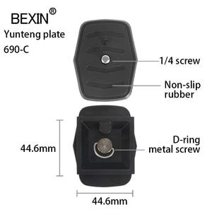 Image 4 - Dslr שחרור מהיר צלחת מצלמה חצובת פלייט צלחת מתאם עם 1/4 בורג עבור Yunteng Velbon 690 590 600 מצלמה חצובה
