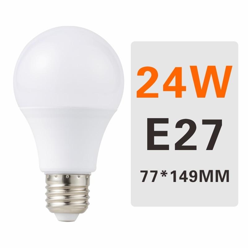 E27 E14 LED Bulb Lamps 3W 6W 9W 12W 15W 18W 20W Lampada Ampoule Bombilla LED Light Bulb AC 220V 230V 240V Cold/Warm White - Испускаемый цвет: 24W E27