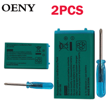 2pcsFor GBASPGameBoyAdvance Battery Rechargeable battery Lithium-ion Battery Pack For Nintendo Game Boy Advance with screwdriver