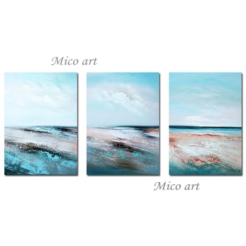 Pure Handmade 3 Panels Abstract Textured Oil Painting Canvas Wall Art Unframed Wall Pictures For Living Room Home Decoration