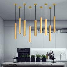 Скандинавский подвесной светильник с длинной трубкой регулируемая