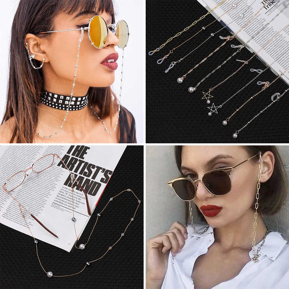 Vintage Eye Glass Spectacles Eyewear Chain Holder Necklace