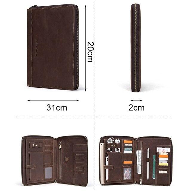 "Retro Leather Padfolio Case For New iPad Pro 11 2020 10.5"" Air 3 Folder Phone Pocket Storage Holder Organizer Zippered around 1"