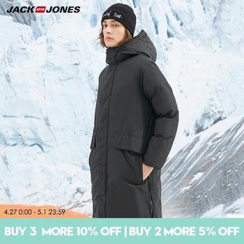 JackJones Men's Winter Hooded Stand-up Collar Mid-length Down Jacket | 218412514