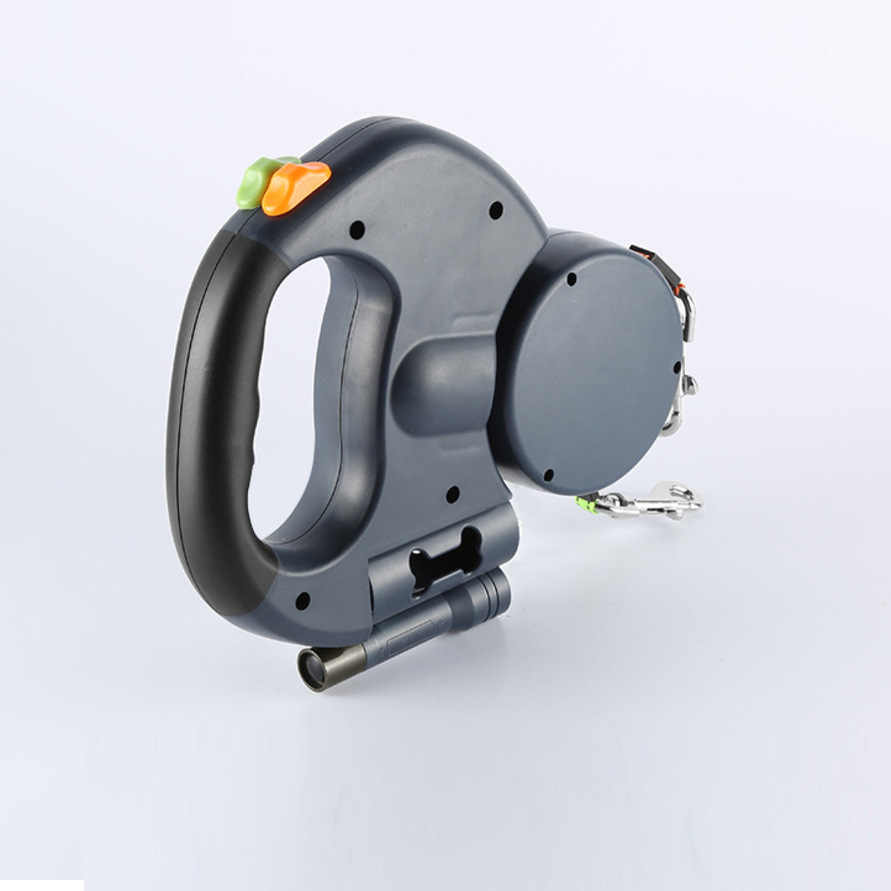 Pet wysuwana dwugłowy ręka trzymająca linę jeden z dwoma z diodami LED z torba z uchwytem rozdzielacz ręka trzymająca linę P