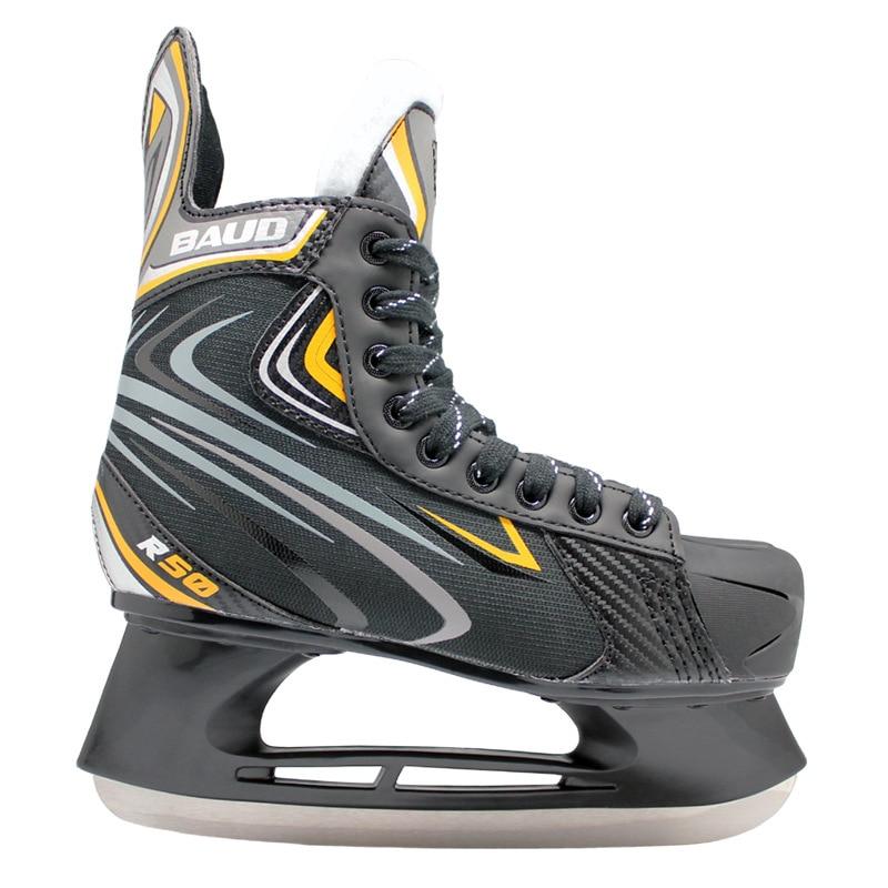 3mm ThickenAdult Ice Hockey Shoes Unisex Children'S Ice Hockey Skate Shoes Real Skates Speed Skating Skates Winter Indoor Ice