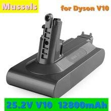 2021 сменный литиевый аккумулятор 25,2 в 12800 мАч для пылесоса Dyson cyclone V10 Absolute SV12 V10 пушистый V10