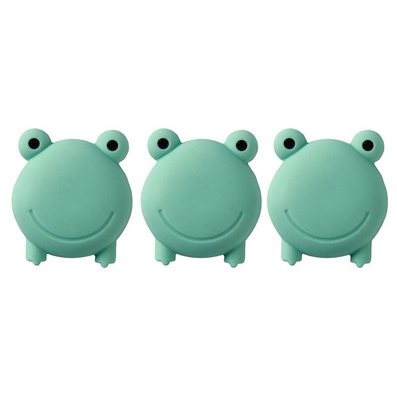 3PCS/Set Wall Protector Door Handle Bumper Guard Stopper Self Adhesive Rubber Cartoon Frog Home Back Door Crash Pad