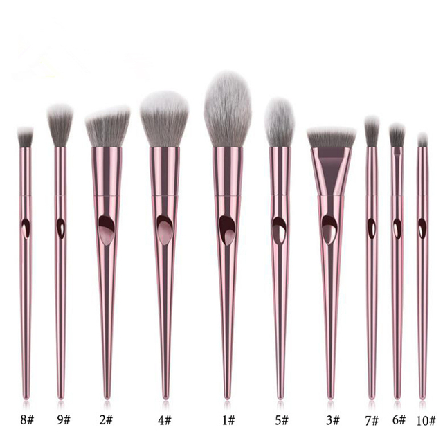 Professional Makeup Brushes For Face Eyeshadow Brush Blush Lip Eye Powder Mermaid Brushes Foundation Rose Gold Make Up Cosmetic 5