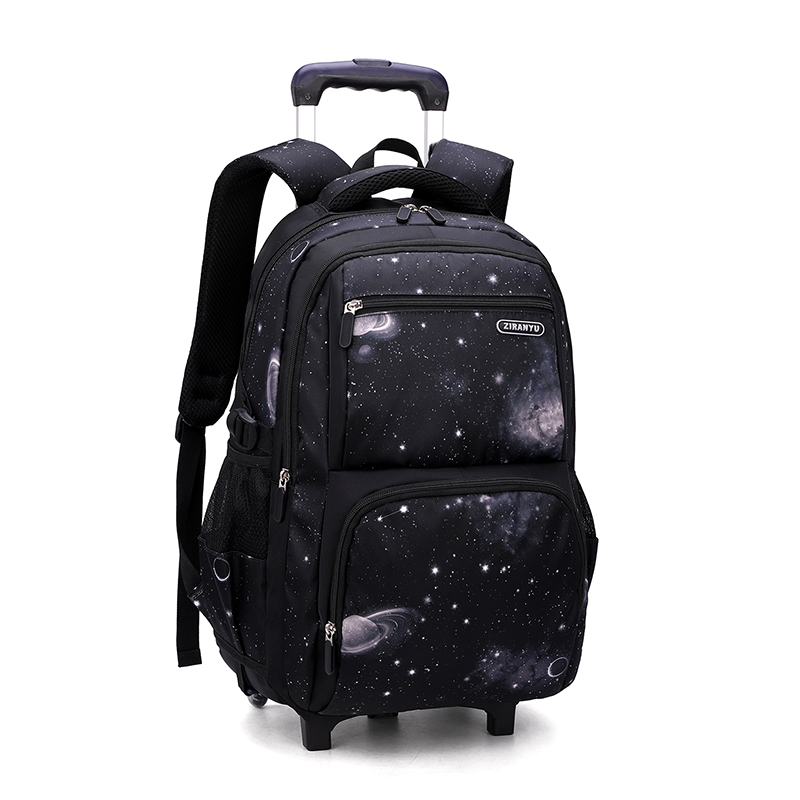 2 Wheels Travel Rolling Luggage Bag School Trolley Backpack For Boys Backpack On Wheels Kid
