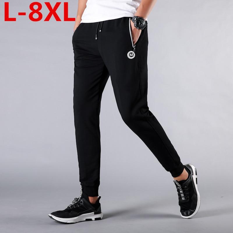 New Plus Size 8XL 7XL 6XL 5XL 4XL Mens Joggers Fashion  Clothing  Pants Casual Pants Black  Blue Sweatpants Men Mid-waist