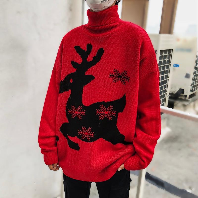Sweater Men Winter  Cotton Christmas Jumper