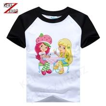 Strawberry Shortcake Tee Strawberry Princess Tshirt girls T-shirt baby girl T-shirt 2020 summer T-shirt 05121-0511