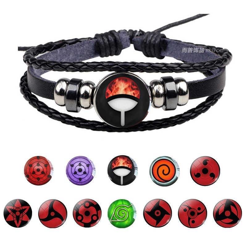 "Naruto Yin Yang Leather Bracelet Anime 8"" Green US Seller"