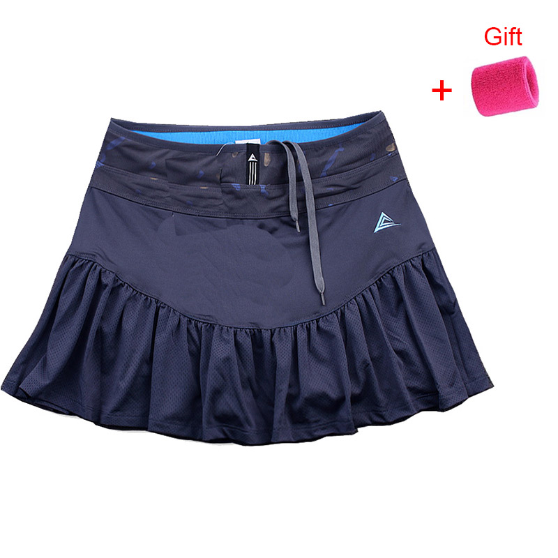 Women's Tennis Sports Skirt Breathable Short Skirt Quick Dry Sports Skirt Fishtail Skirt Wicking Running Badminton Skort