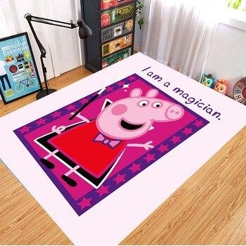 Peppa Pig Anti-slip Flannel Mat Peppa Door Mat Kid Room 3D Cartoon Floor Mat Washable Kitchen Bathroom Carpet Christmas Gift 9