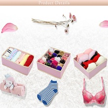 3pcs / set Foldable NonWoven Home Underwear Storage Box For Underwear Bra Tie Socks Container Organizers Drawer Closet Organizer waterproof oxford cloth underwear storage box home storage kit drawer closet organizers save space foldable 13 grids