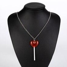 Girls Jewelry Pendants Charms Women Necklace Birthday-Gift Heart Resin 1pc Lollipop Children