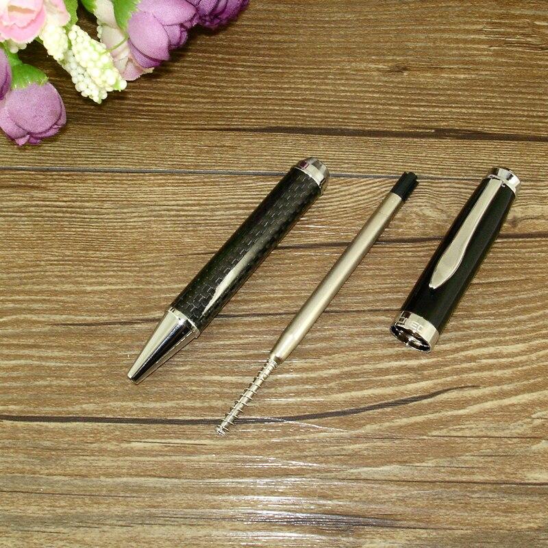 Image 5 - 럭셔리 2 개/몫 클래식 사무실 및 학교 쓰기 편지지 선물 세트 공 펜 및 기계 연필 탄소 섬유 트윈 펜 세트ball penpen setball pen set -
