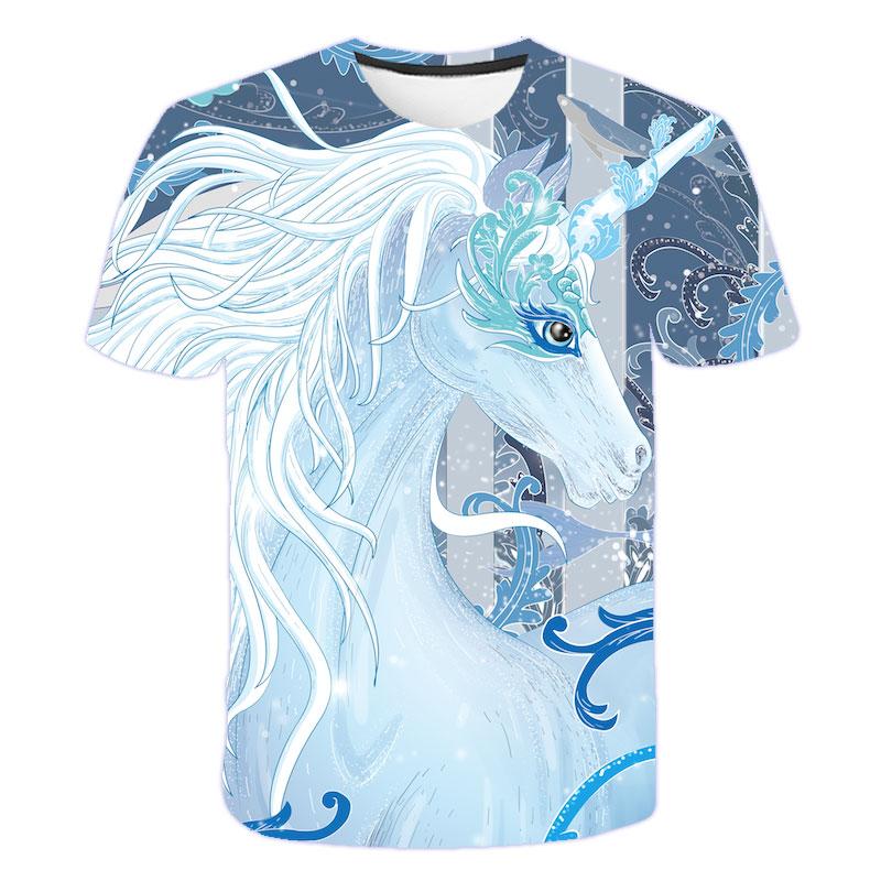 H5e19e4316d0c49569b070e2a78f8bb577 Baby Girls T-shirt 4 5 6 7 8 9 10 11 12 13 14 Years Unicorn Kids T Shirt Children Clothes Summer Unicorn T shirts Girl s Tee