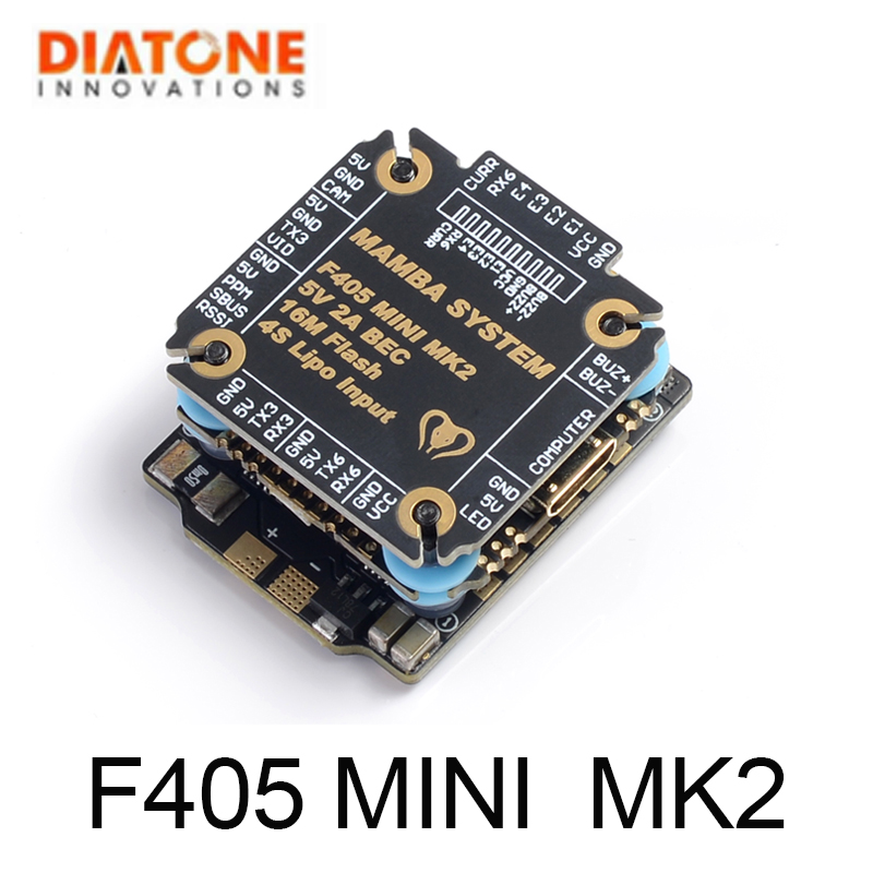 <font><b>MAMBA</b></font> <font><b>F405</b></font> <font><b>Mini</b></font> MKII Betaflight Flight Controller & 25A ESC 2-4S DSHOT600 stack FPV Racing Brushless ESC For RC image